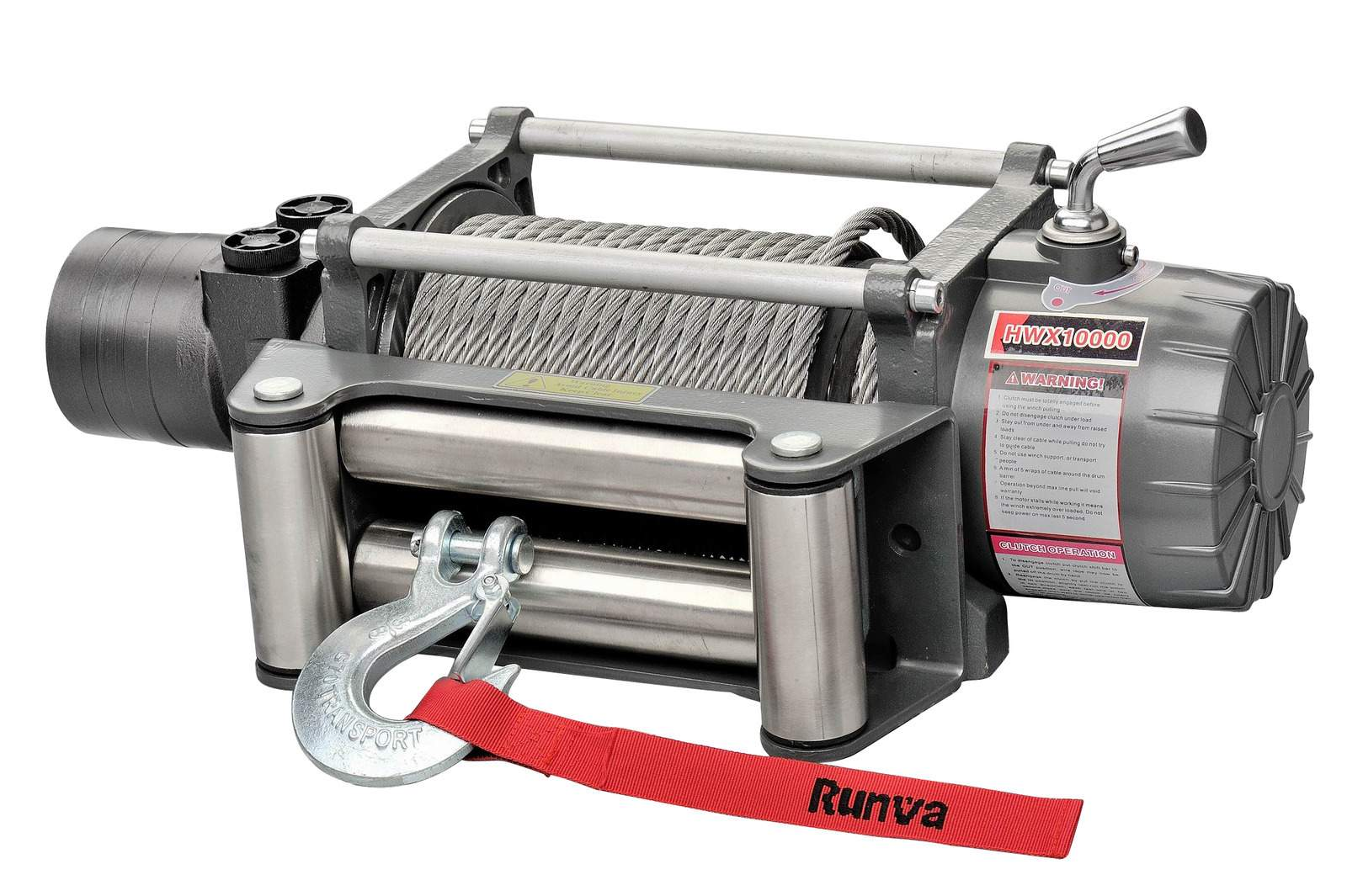 Runva HWX10000 10,000lb Hydraulic 4wd Winch with 26m 9 2mm Steel Cable