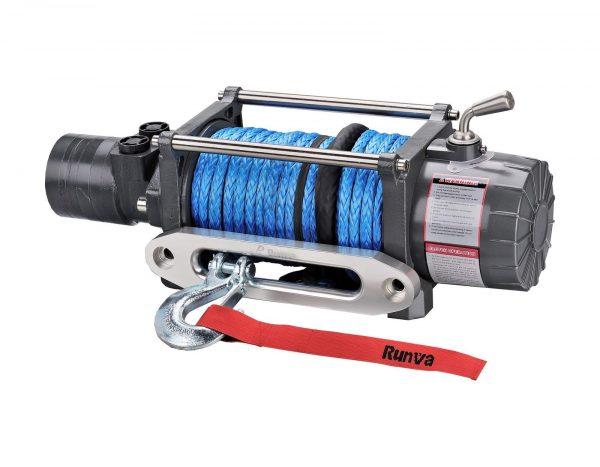 Runva HWX10000 10,000lb Hydraulic 4wd Winch with 26m 10mm Synthetic Dyneema  Rope