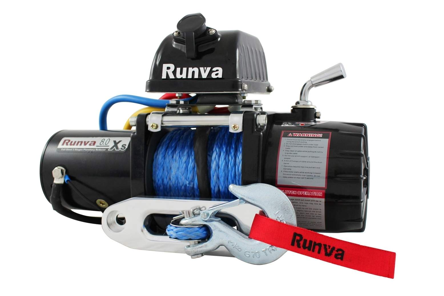 Runva 8 0XS Rock Crawl Winch 8000lb Electric 4wd winch with 14m of 9mm  synthetic rope