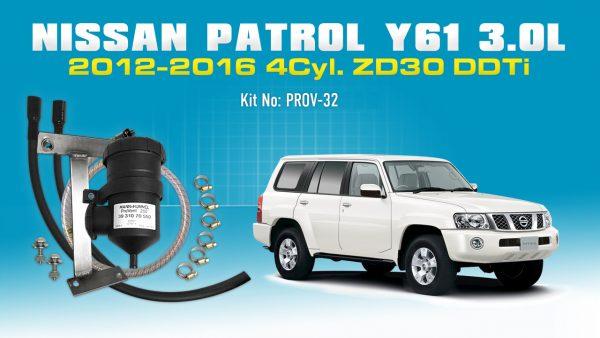 Nissan Patrol 2012-16 3 0L Y61 Diesel - Mann+Hummel ProVent Catch Can  Bracket Kit