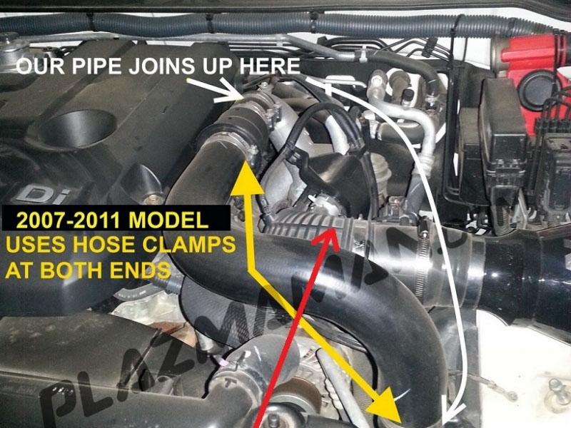 Plazmaman Nissan Navara D40 2 5L YD25 Tube & Fin Intercooler Kit