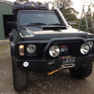 GQ bull bar with Warn High Mount Winch4