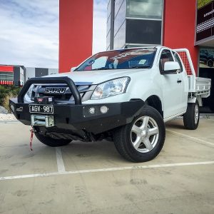 Isuzu Dmax bull bar single hoop Urban style