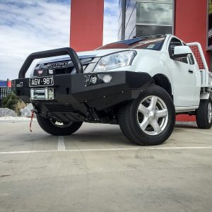 Isuzu Dmax bull bar single hoop Urban style1