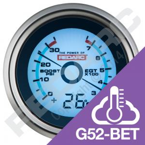 egt-boost-pressure-52mm-gauge-with-optional-temperature-display